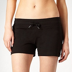 adidas - Black stretch knit fitness shorts