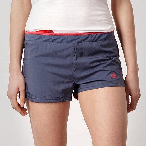 adidas - Grey mesh lined running shorts