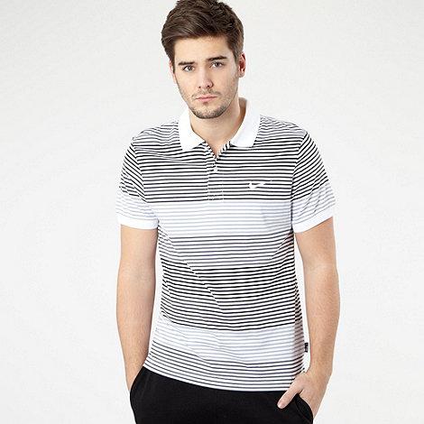 Nike - White striped jersey polo shirt