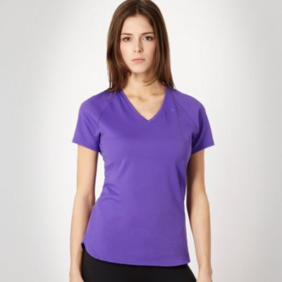 Nike Purple perforated panel fitness t-shirt product image