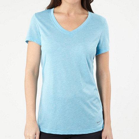 Nike - Blue mottled sports top