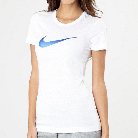 Nike - White brand logo t-shirt