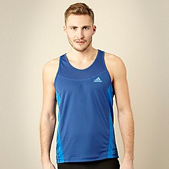 adidas - Blue textured panel training top