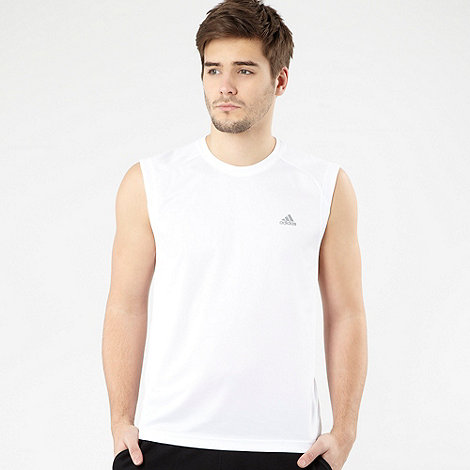 adidas - White training tank top