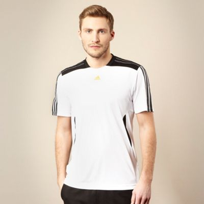 Adidas White panelled t-shirt
