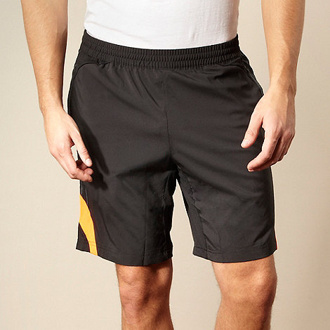 adidas - Black neon logo training shorts
