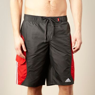 Adidas Grey textured panel shorts