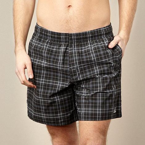 adidas - Black check swimming shorts