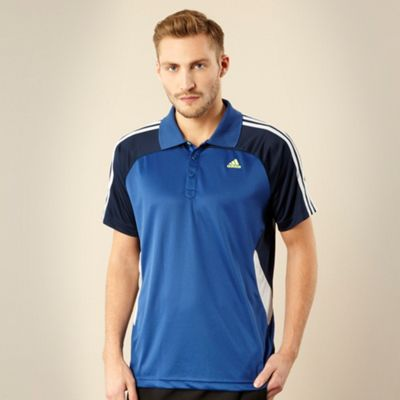 Adidas Blue textured training t-shirt
