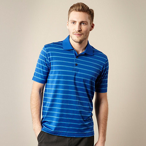 adidas Golf - Dark blue striped polo shirt