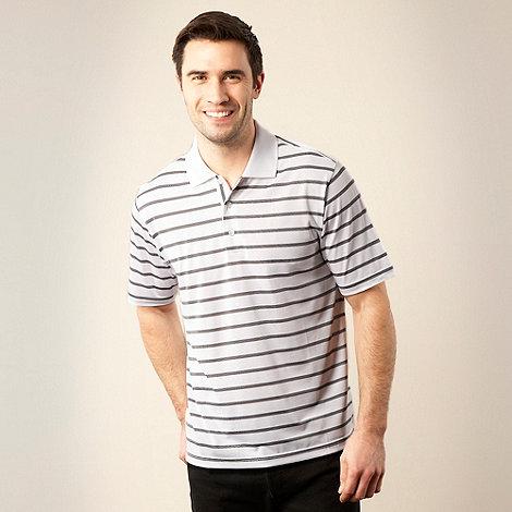 adidas Golf - White fine striped polo shirt