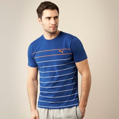 Puma Blue fine striped sports t-shirt product image