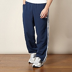 adidas - Navy zip cuff jogging bottoms