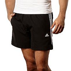 adidas - Black three stripe shorts