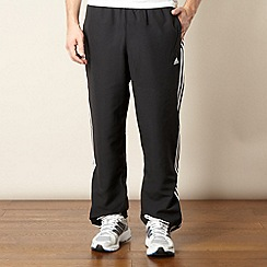 adidas - Black branded stripe jogging bottoms