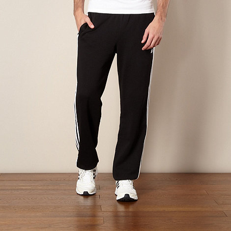 adidas - Black striped jogging bottoms