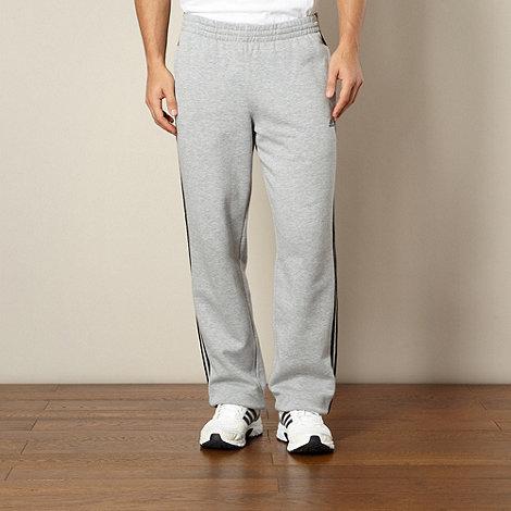 adidas - Grey cuffed jogging bottoms
