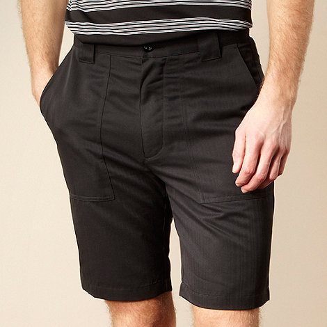 Nike Golf - Black textured stripe tech shorts