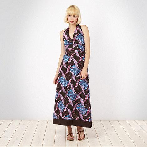 Protest - Brown swirled halter dress