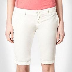 Roxy - Cream four pocket shorts
