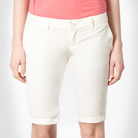 Roxy - Cream four pocket shorts
