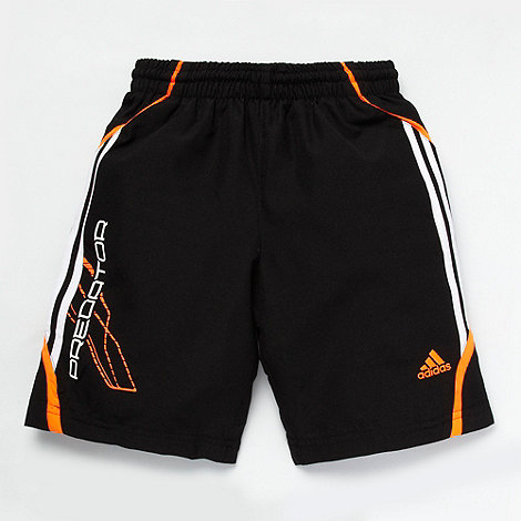 adidas - Boy+s black woven shorts