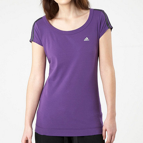 adidas - Purple essentials 3 stripes t-shirt