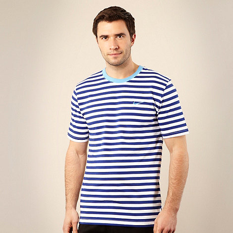 Nike - Dark blue striped crew neck t-shirt
