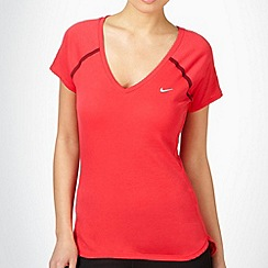 Nike - Pink V neck running t-shirt