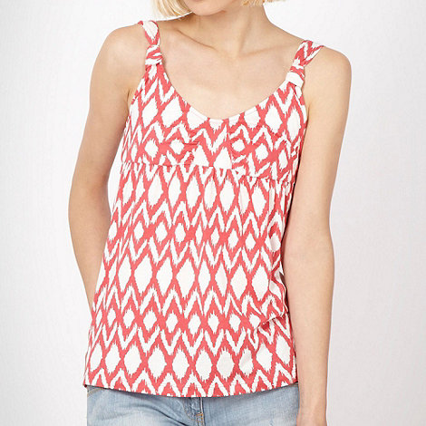 Quiksilver - Peach tribal embellished vest