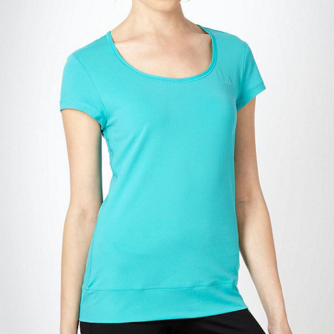 adidas - Dark turquoise stretch t-shirt