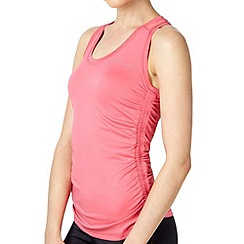 Elle Sport - Peach ruched training vest top