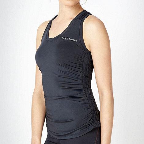 Elle Sport - Dark grey ruched performance vest