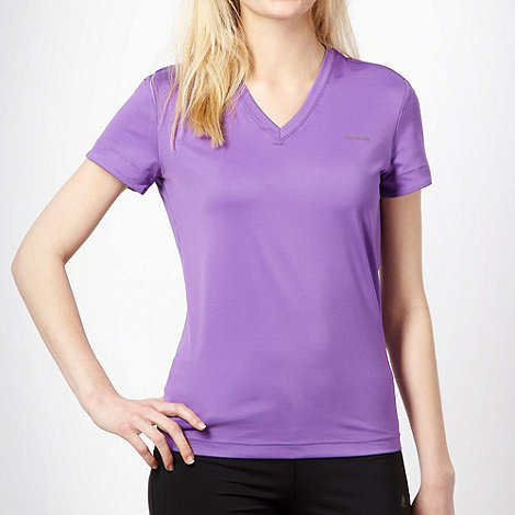 Reebok - Purple slim fitting sports t-shirt