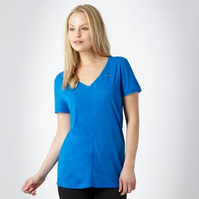 Blue textured training t-shirt - CLICK FOR MORE INFORMATION