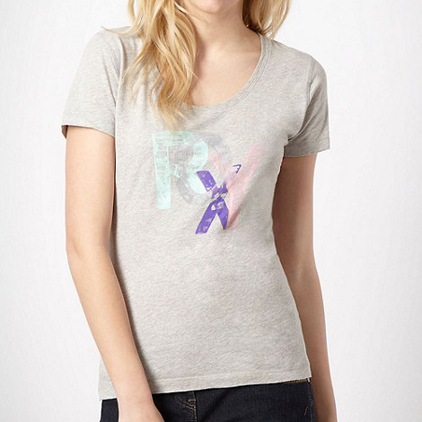 Roxy - Grey faded logo t-shirt