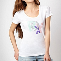 Roxy - White stamped logo t-shirt