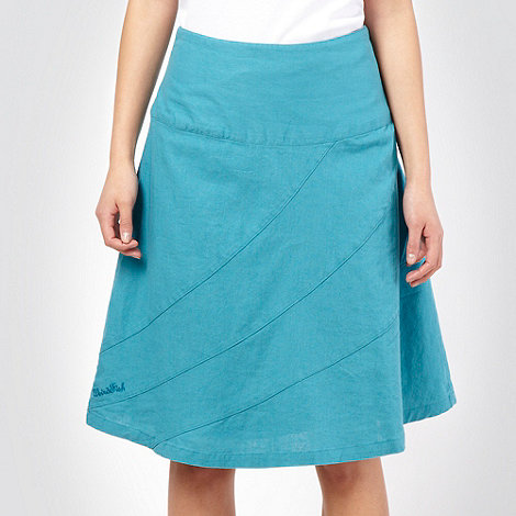Weird Fish - Turquoise A-line panelled skirt