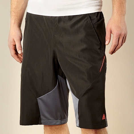 adidas - Black long training shorts
