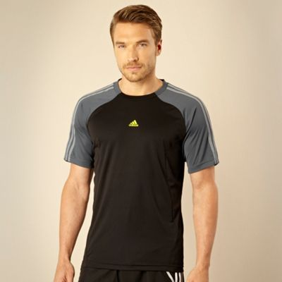 Adidas Black panelled training top