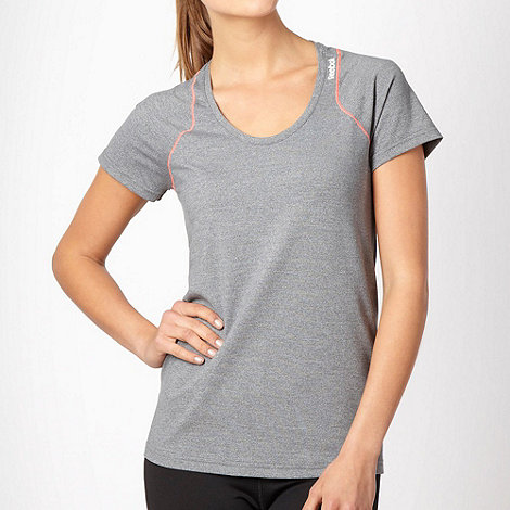 Reebok - Grey +Optimal+ scoop neck t-shirt