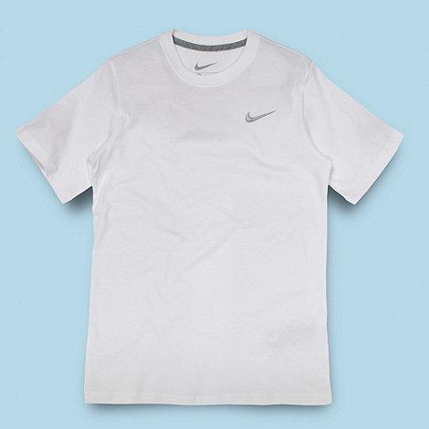 Nike - Boy+s white embroidered logo t-shirt