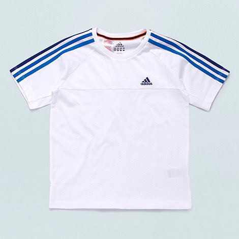 adidas - Boy+s white +Essential+ crew neck t-shirt