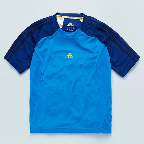adidas - Boy+s blue +Clima Cool+ t-shirt