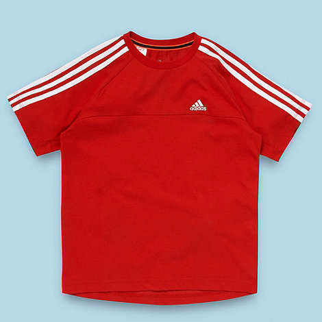 adidas - Boy+s red +essential+ t-shirt