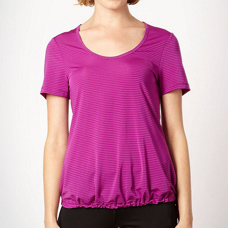 XPG by Jenni Falconer - Bright purple self striped performance t-shirt