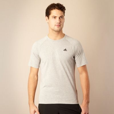 Adidas Grey Essential crew neck t-shirt