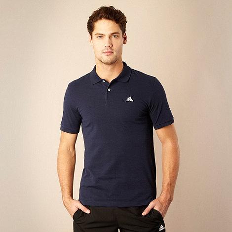 adidas - Navy logo pique polo shirt