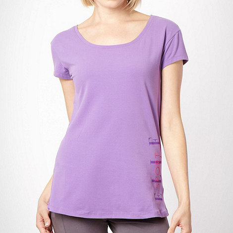 Elle Sport - Purple semi-fit logo t-shirt