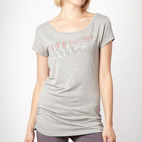 Elle Sport - Grey graphic logo t-shirt